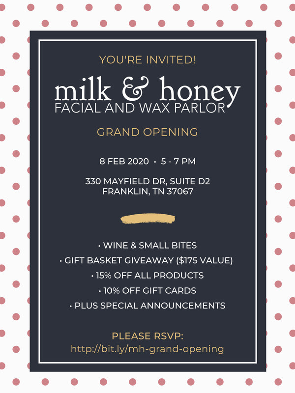 Milk & Honey Day Spa Grand Opening