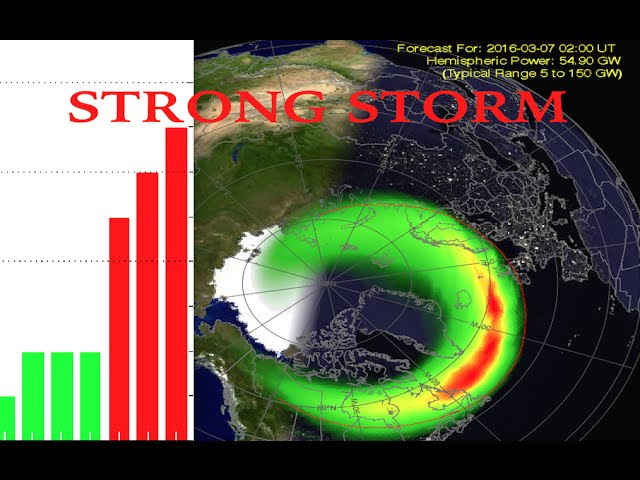 Strong Geomagnetic Storm Lights Up EUROPE & USA - G2 Storm Conditions Expected Through 7 Mar.  Sddefault