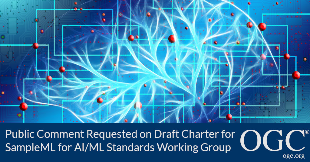 Banner announcing public comment period for the charter of the new SampleML for AI/ML SWG