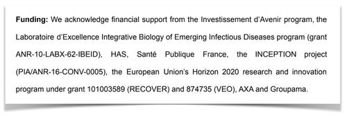 Financement étude Pasteur