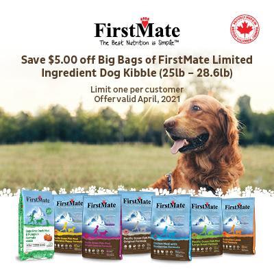 Fristmate Grain Free LID dog food large bags $5 OFF.