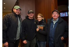(L-R): Jacob West, Brad and Misty Grady, and Bobby Dodd at the Keeneland November Sale