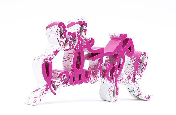 Life is Beautiful Pink Splash Edition - opera di Mr.Brainwash in vendita presso la Galleria Deodato Arte