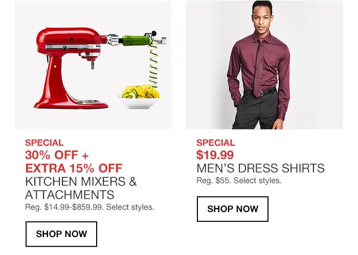Special $19.99 MEN'S DRESS SHIRTS Reg. $55. Select styles. shop now