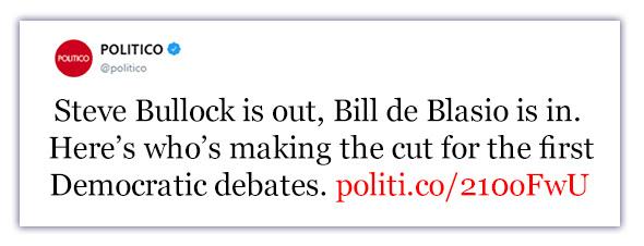 Politico headline
