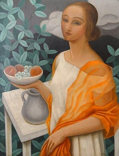 Девушка с тарелкой фруктов, 1923 (397x522, 74Kb)
