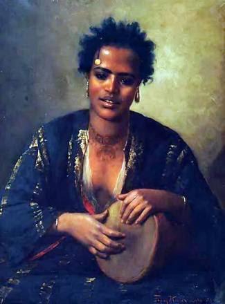 Beleza nubiana.  Trabalho do pintor austríaco Franz Xaver Kosler.  (1894).