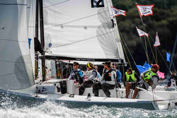 J/70s sailing Royal Yacht Squadron Bicentenary team race