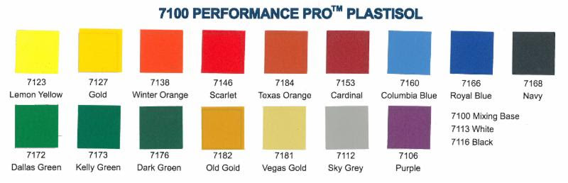 ICC 7100 Series Color Chart