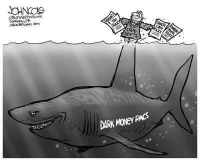 Skark labed Dark Money Pacs with a \