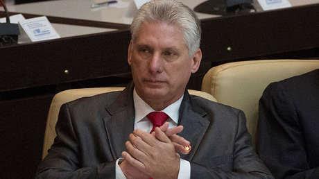 El Jefe de Estado cubano, Miguel Díaz-Canel.