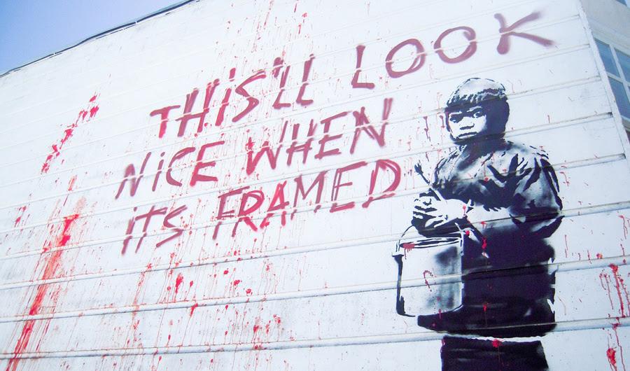 Artistas Banksy e Fellow da rua estão se recusando a alimentar o mercado de Pinturas Tirado das ruas