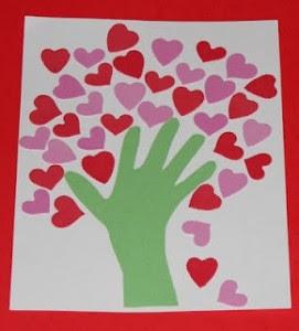 heart hand tree