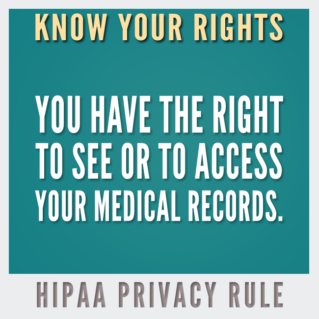 Know Your Rights: HIPAA Privacy Rule