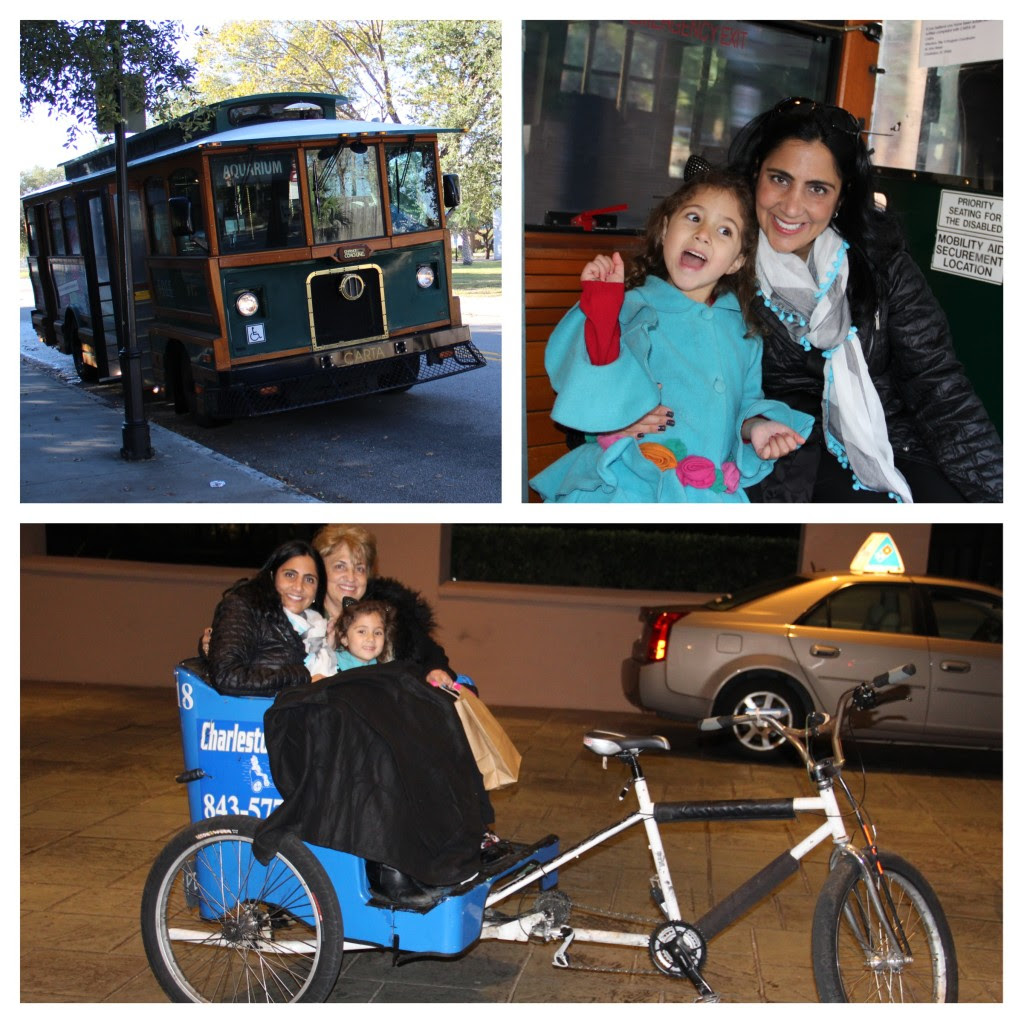 Family Friendly Charleston, South Carolina, Getting Around Town, Family Travel, Trolly, DASH, Charleston with kids, Charleston pedicab
