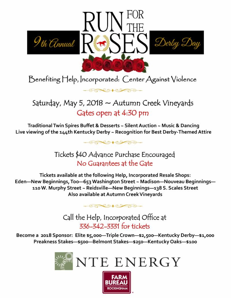9th Annual Run for the Roses Derby Day @ Autumn Creek Vineyards | Mayodan | North Carolina | United States