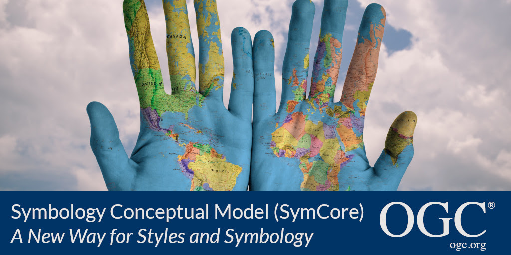 Banner announcing SymCore standard: A new way for styles and symbology