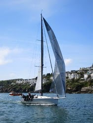J/133 sailing RORC race
