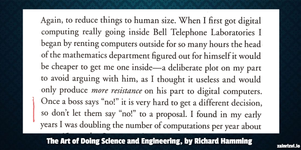 Excerpt from the Art of Doing Science and Engineering