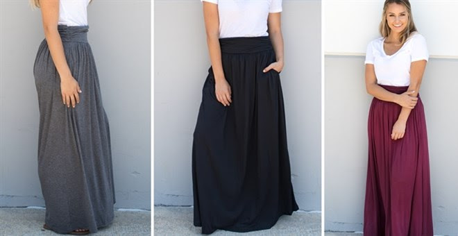 HOT!! Pocket Maxi Skirt...