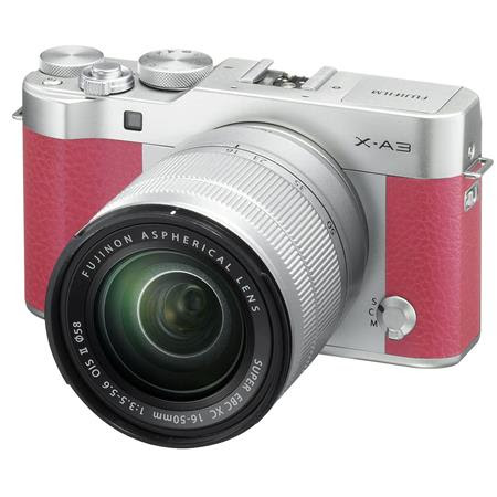 X-A3 Mirrorless Camera with XC 16-50mm OIS II Lens, Pink