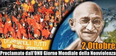 Gandhi e giornata nonviolenta