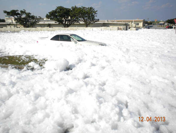 Okinawans have endured PFAS foaming for years.