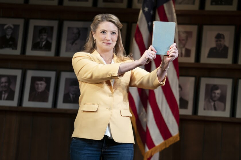 "Heidi Schreck in a scene from ""What the Constitution Means to Me."""