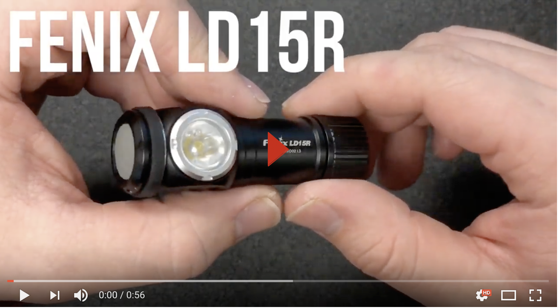 Fenix LD15R LED Flashlight Rechargeable Angle Light