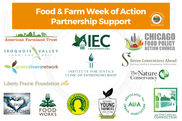 logos from our Food & Farm Week of Action Partners, listed below in body