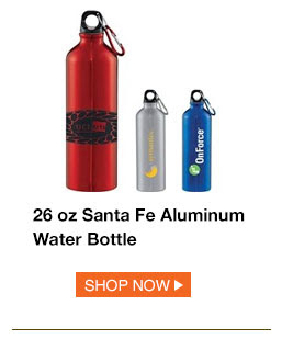 26 oz Santa Fe Aluminum Water Bottle