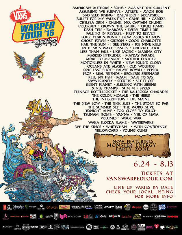 vans warped tour 2016 admat