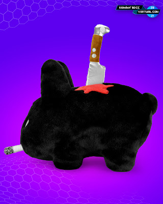 "Backstab Smorkin' Labbit 14"" Plush by Frank Kozik SDCC Exclusive Black Edition"