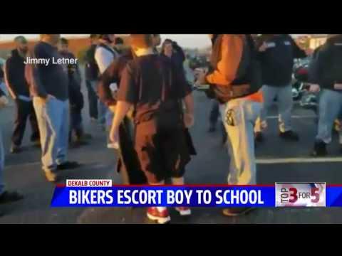 WATCH: 50 BADASS Bikers Send Clear Message To Scumbag Punks Who Bully Little Kids