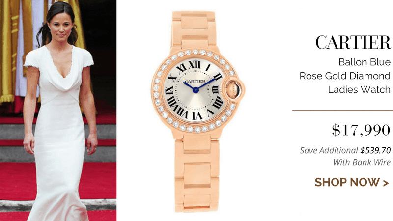 Cartier Ballon Blue Rose Gold Diamond Ladies Watch