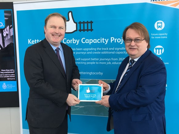 COMMISSION ACCOMPLISHED! EXTRA RAIL LINE BETWEEN KETTERING AND CORBY ENTERS INTO USE