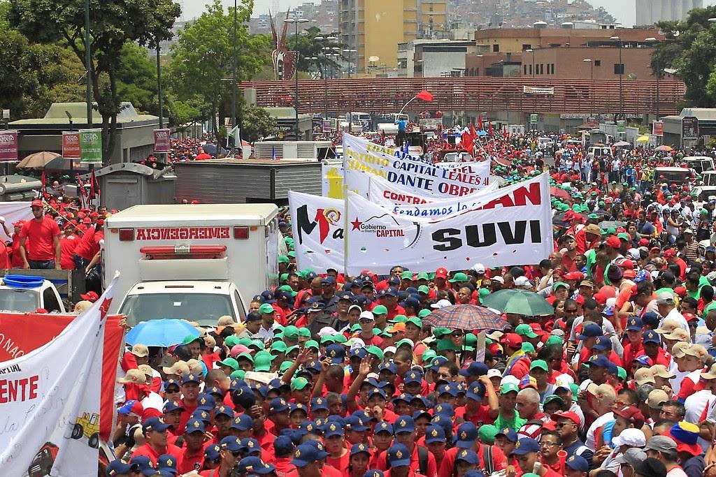 Marcha del primero de mayo en Caracas
