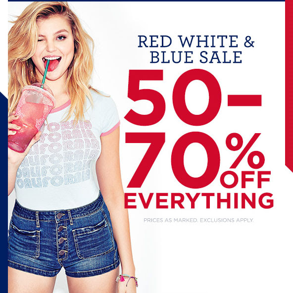 Aeropostale Red, White, &a...