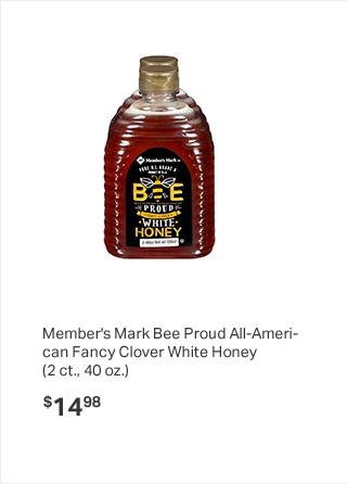 Member's Mark Bee Proud All-American Fancy Clover White Honey ( 2 ct., 40 oz.)