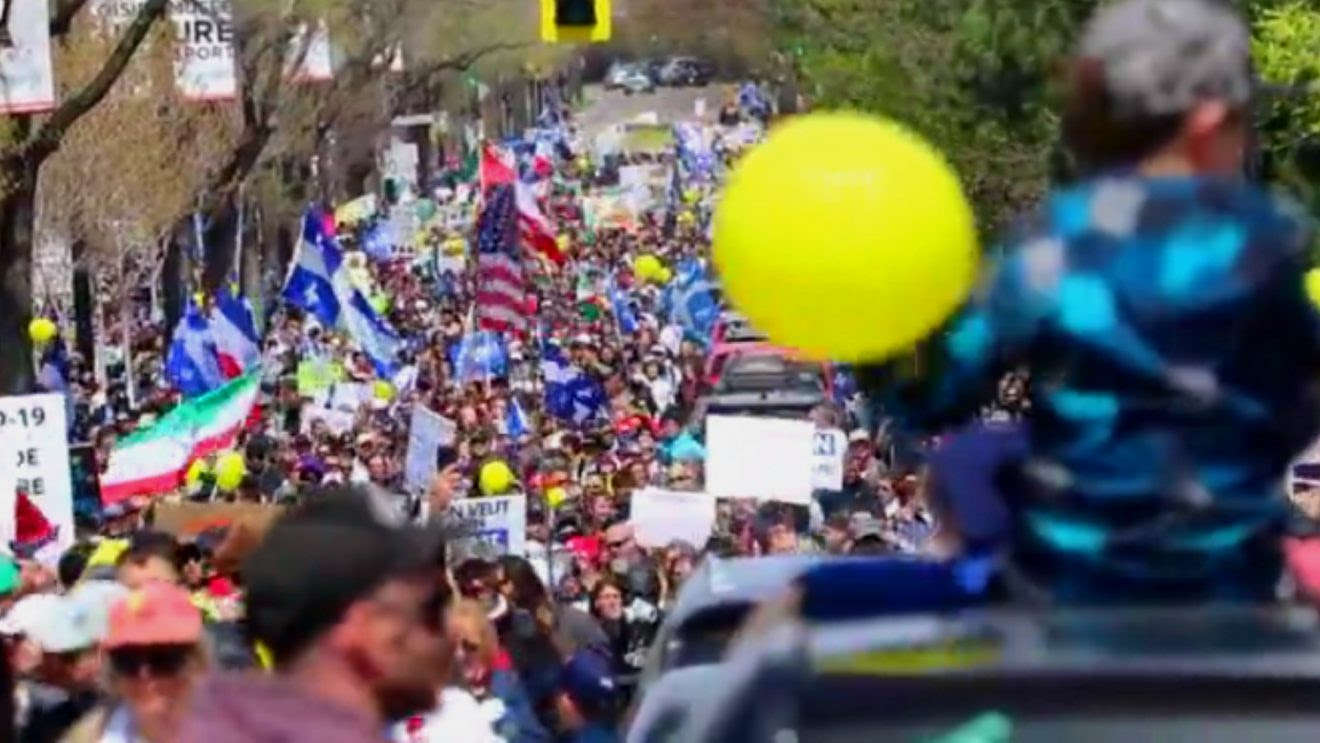 Estimated 100,000 Montreal Protesters Rail Against Quebec Lockdown, Clamour for Premier to Resign Protest5-1320x743