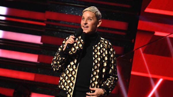 Talk show host and comedian Ellen DeGeneres onstage at the Grammys in January.