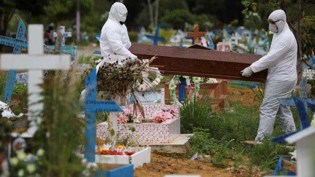 Número de mortos no Brasil cresce 50% em uma semana