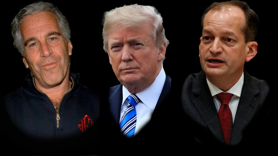 trump and acosta and epstein pic