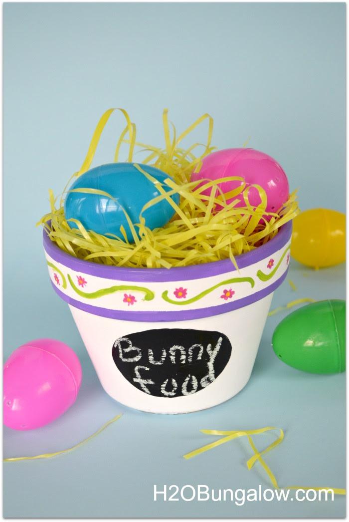 Easy DIY Easter Planter Finished