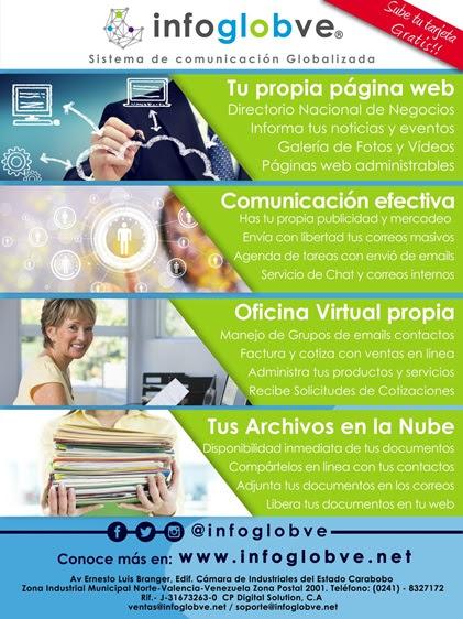 Publicidad de Infoglobve y telefono contacto