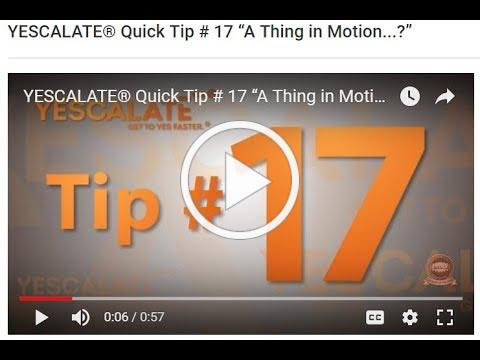 YESCALATE® Tip # 17