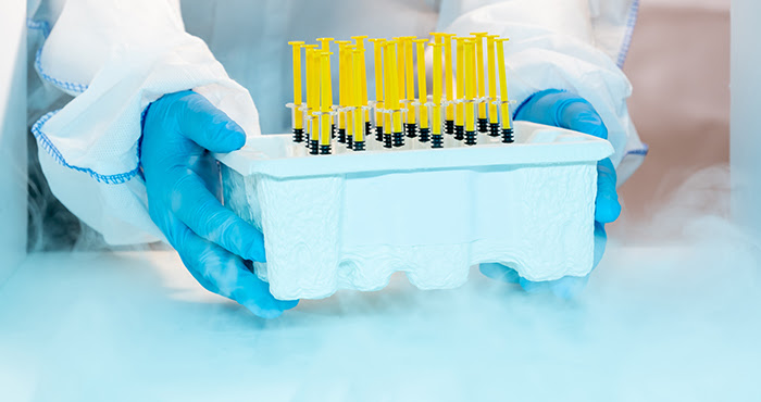 OSHA has a tips for safely handling cryogens and dry ice used in storing COVID-19 vaccines.