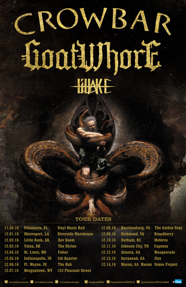 Goatwhore Kicks Off Co Headlining Tour With Crowbar