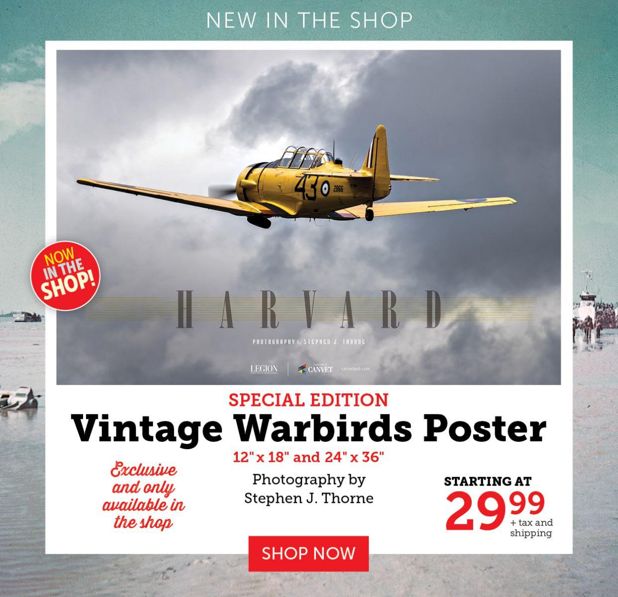 New Warbirds Poster! Harvard aircraft