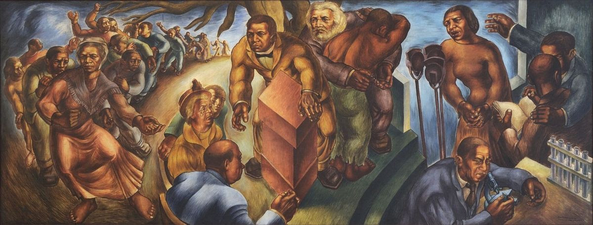 Charles White, Progress of the American Negro: Five Great American Negroes, 1939–40.